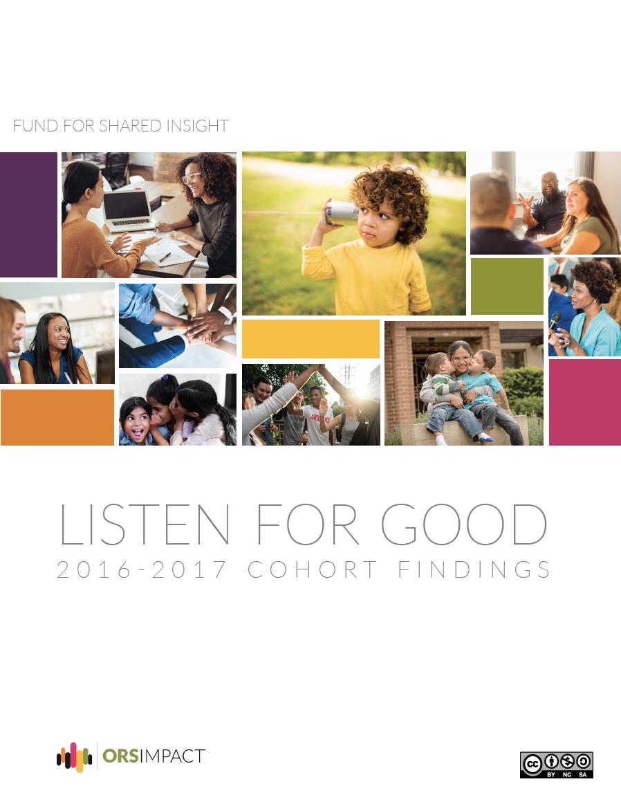 Listen4Good: 2016 – 2017 Cross-Cohort Findings