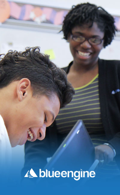 image of a teaching apprentice at Blue Engine